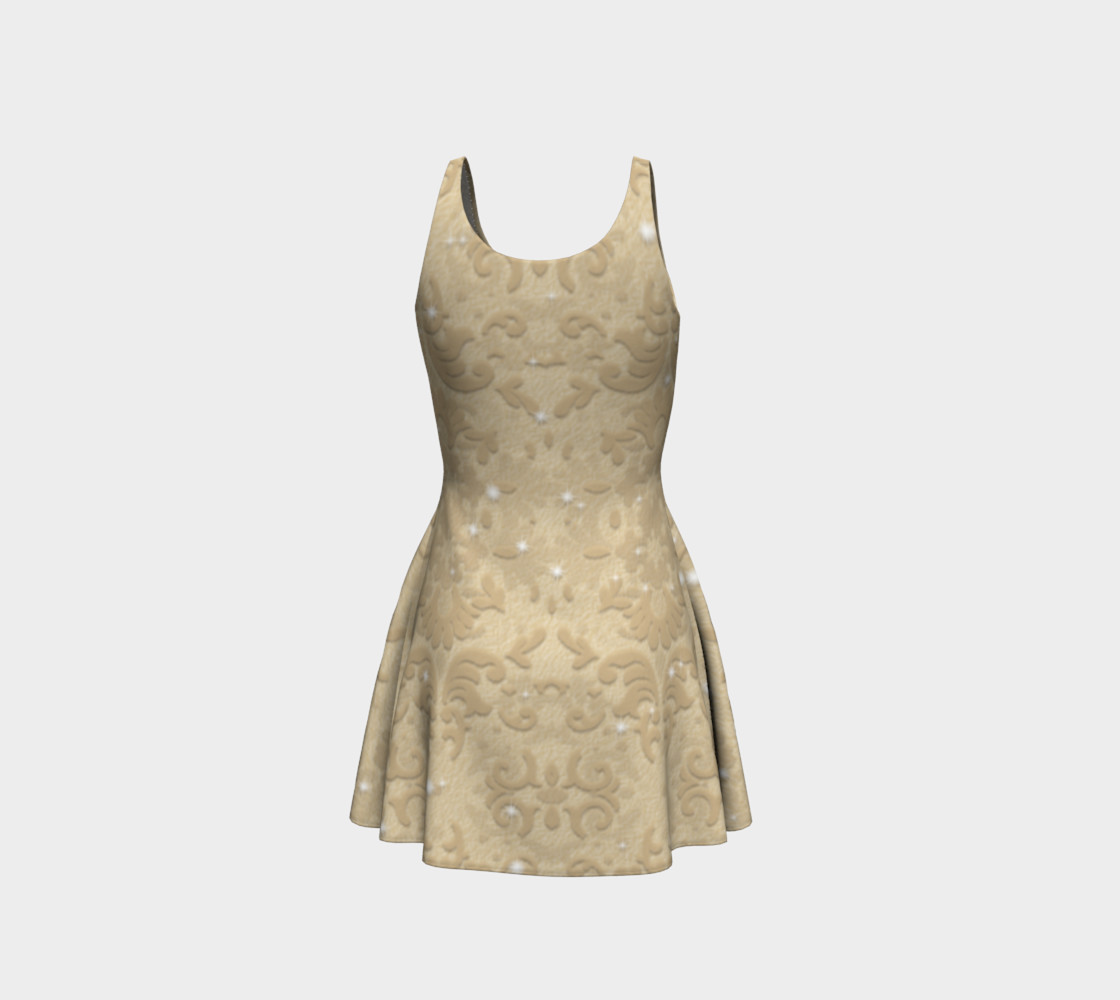 Nude Glitter Lace Print Dress by Tabz Jones  preview #3