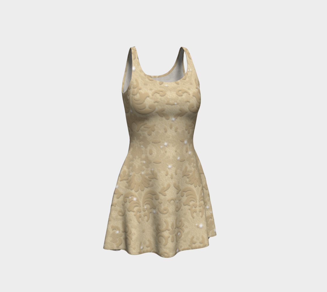 Nude Glitter Lace Print Dress by Tabz Jones  preview #1
