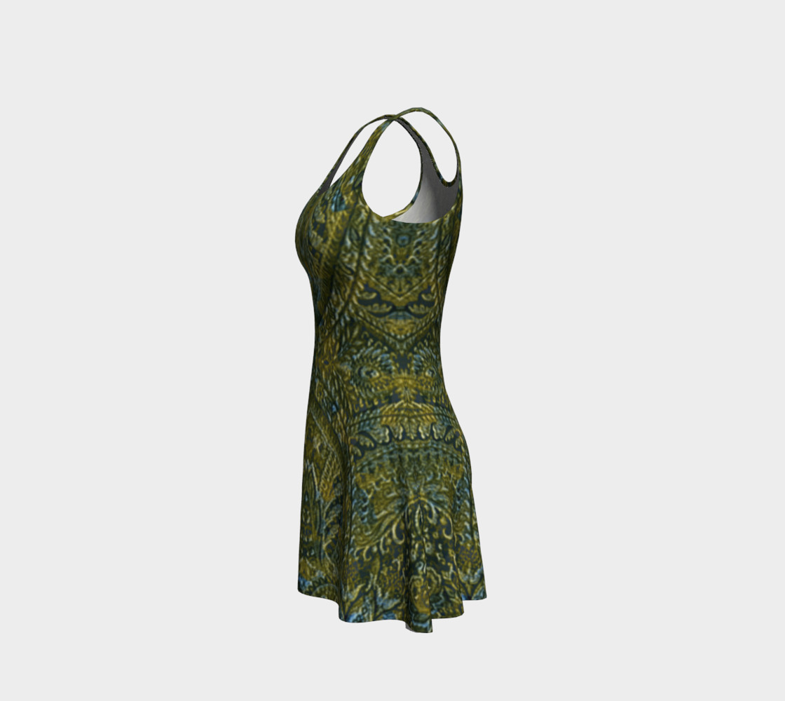 Embossed Lace Vintage Print Dress by Tabz Jones preview #2