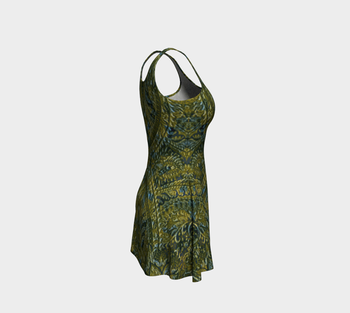 Embossed Lace Vintage Print Dress by Tabz Jones preview #4