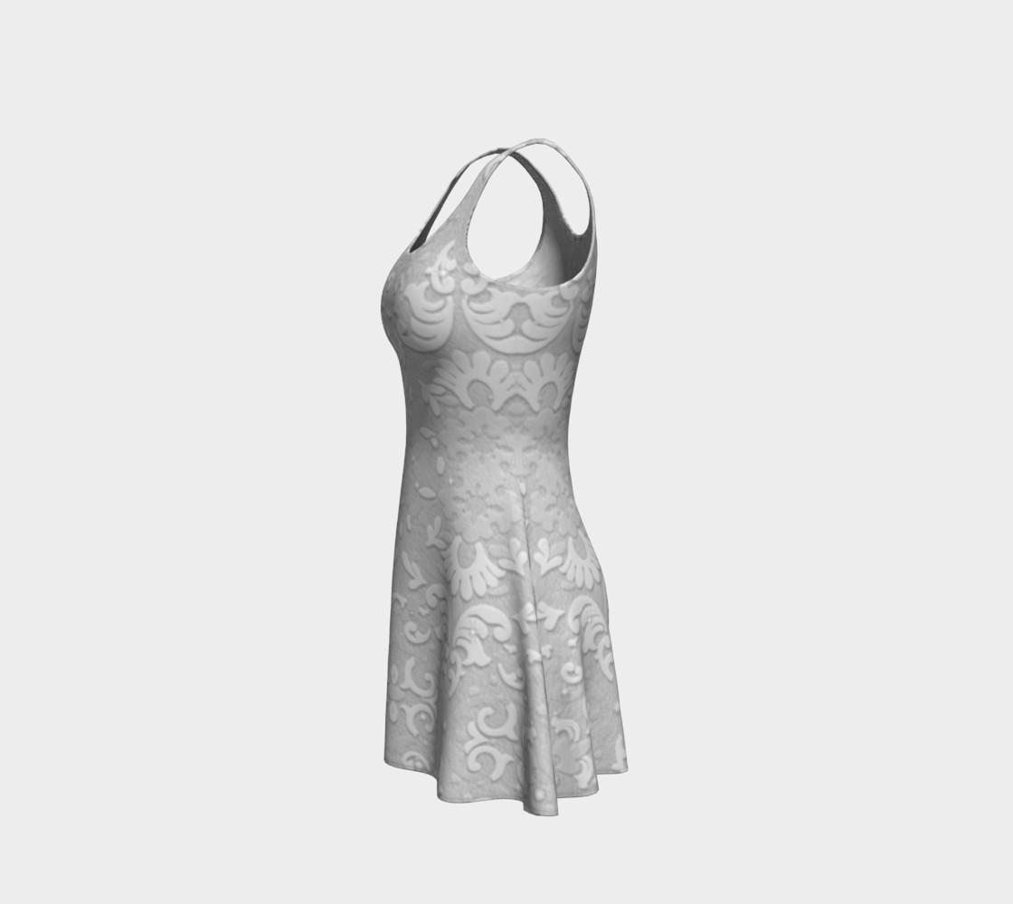 Aperçu de White Wedding Lace Print Dress by Tabz Jones #2