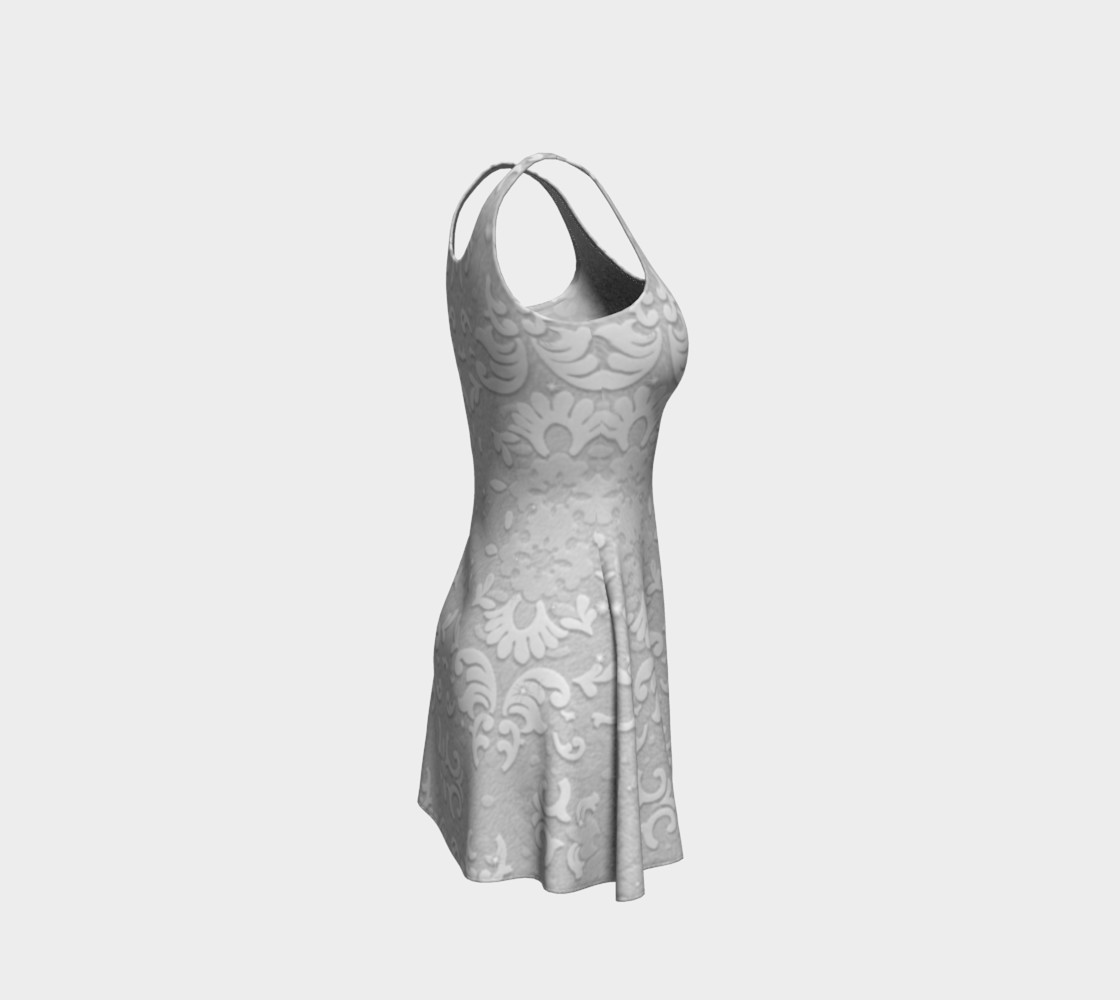 Aperçu de White Wedding Lace Print Dress by Tabz Jones #4