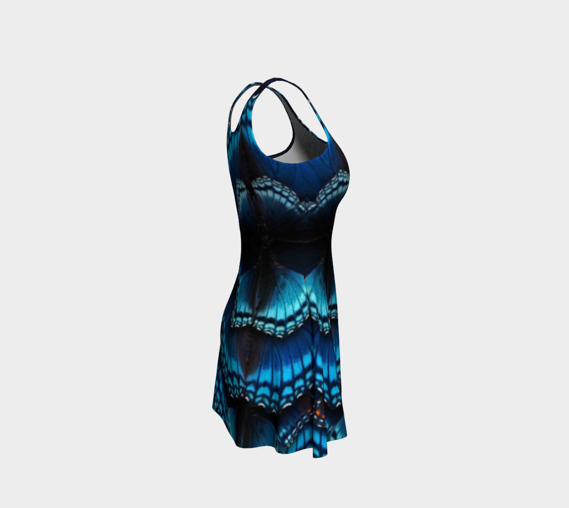 Mondo Blue Butterfly Flare Dress 2 preview #4