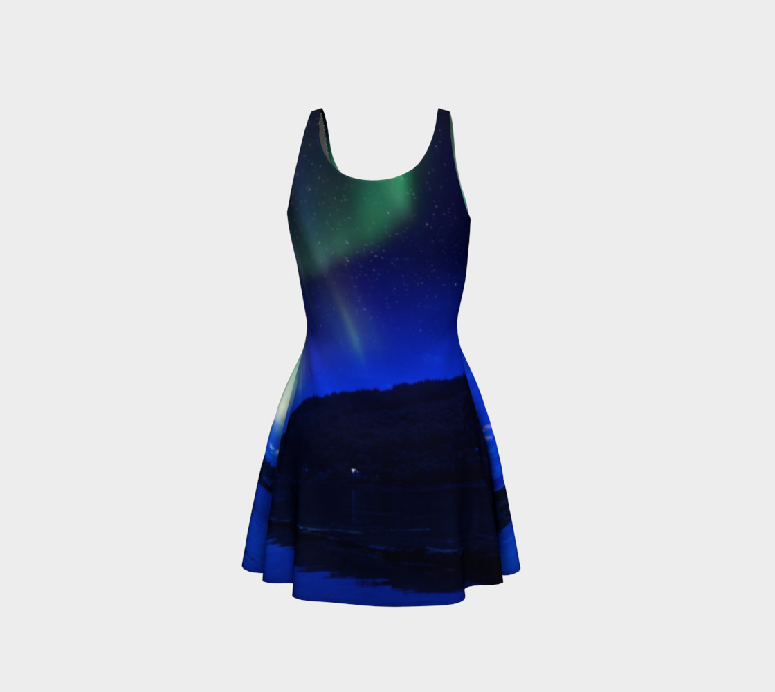 Electric Blue Flare Northern Lights Dress #1 preview #3