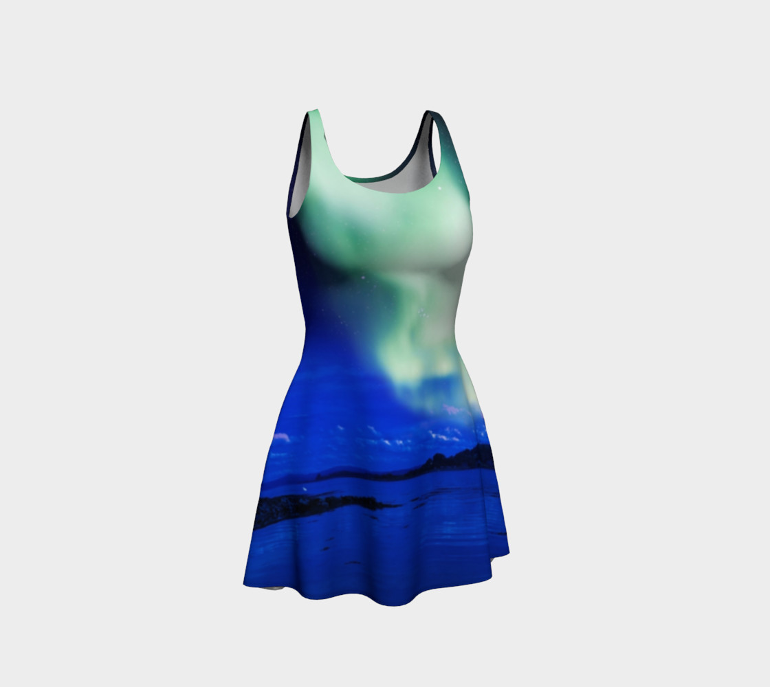 Electric Blue Flare Northern Lights Dress #1 preview #1