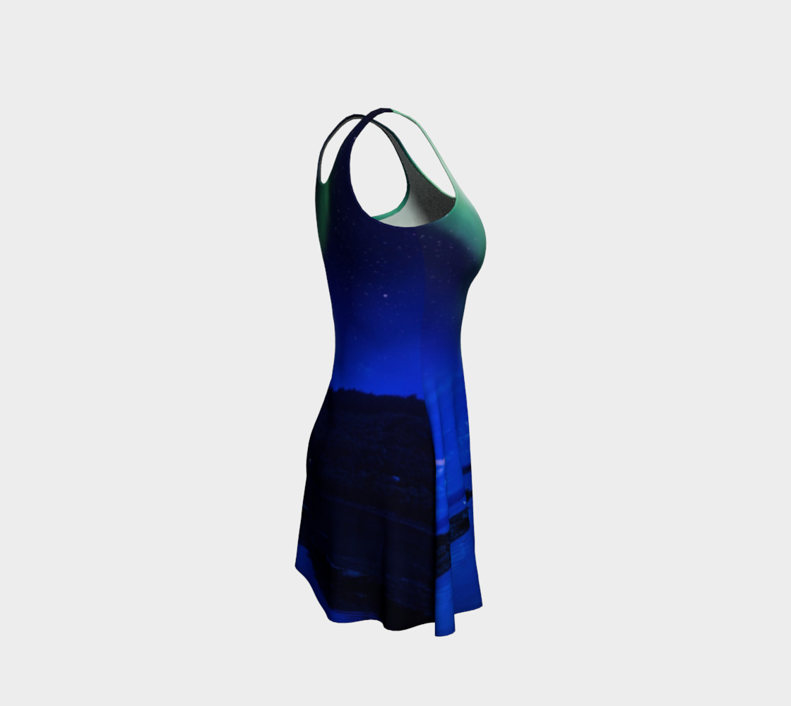 Electric Blue Flare Northern Lights Dress #1 preview #4