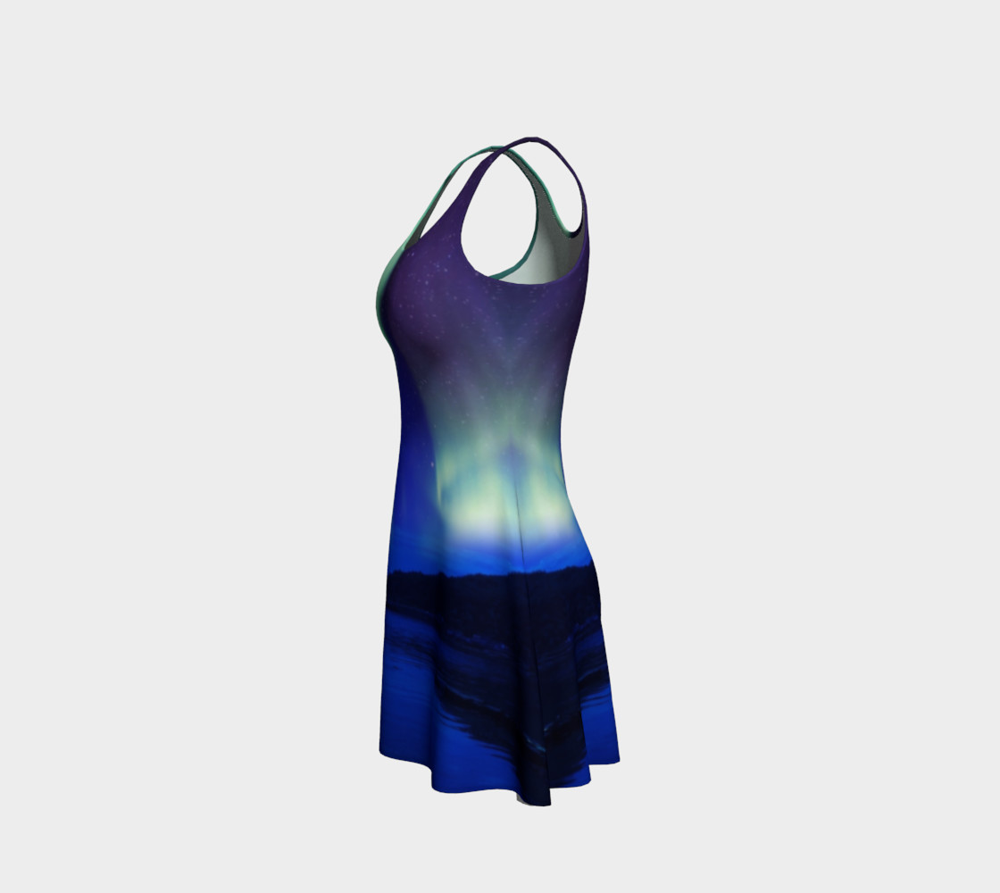 Electric Blue Northern Lights Flare Dress #2 preview #2