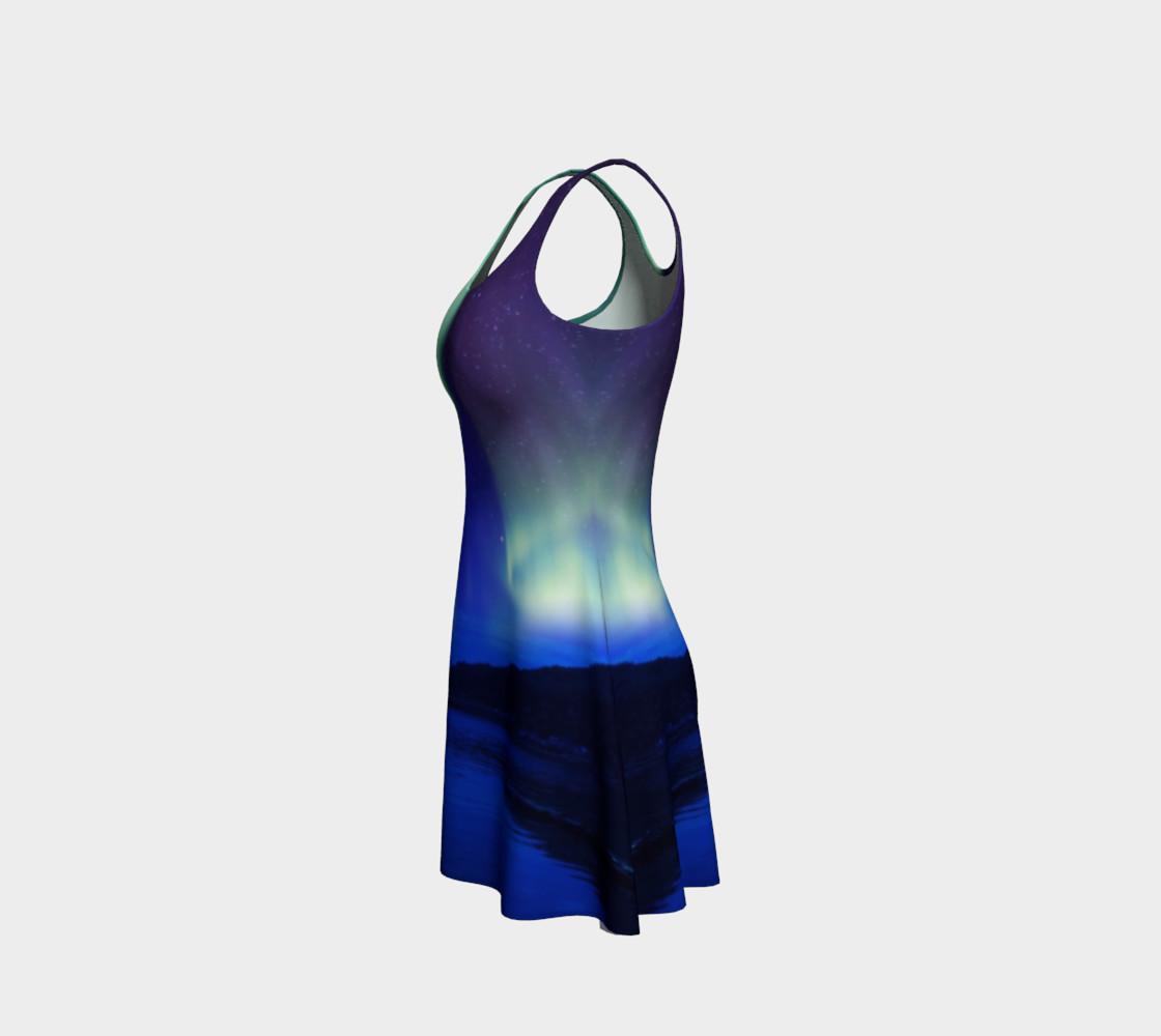 Aperçu de Electric Blue Northern Lights Flare Dress #2 #2
