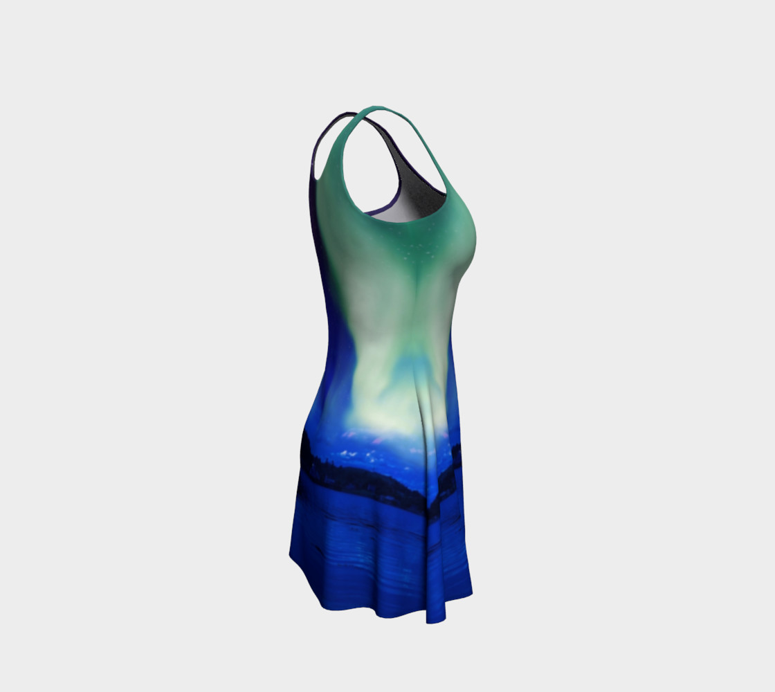 Electric Blue Northern Lights Flare Dress #2 preview #4