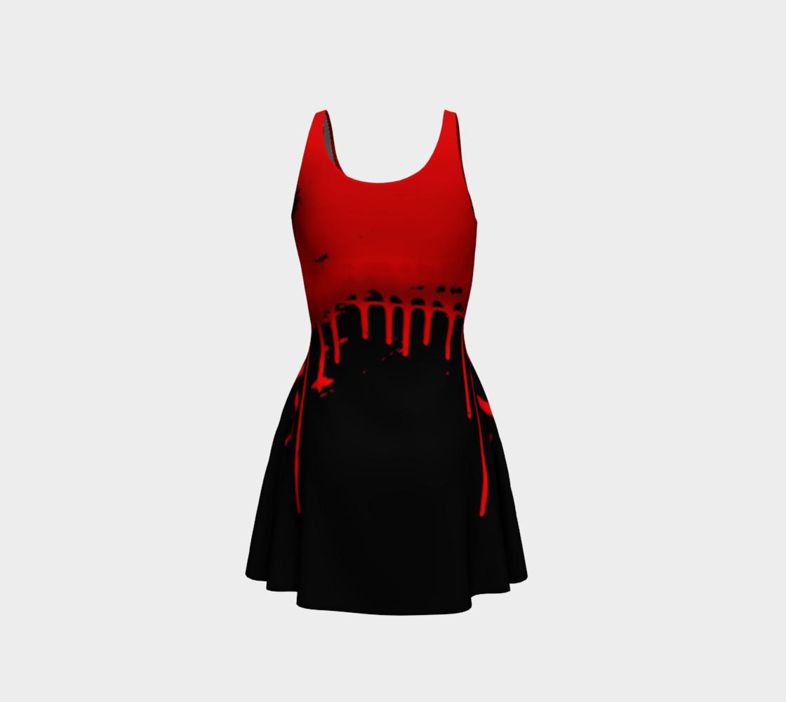 Vampire Bats Goth print dress by Tabz Jones preview #3