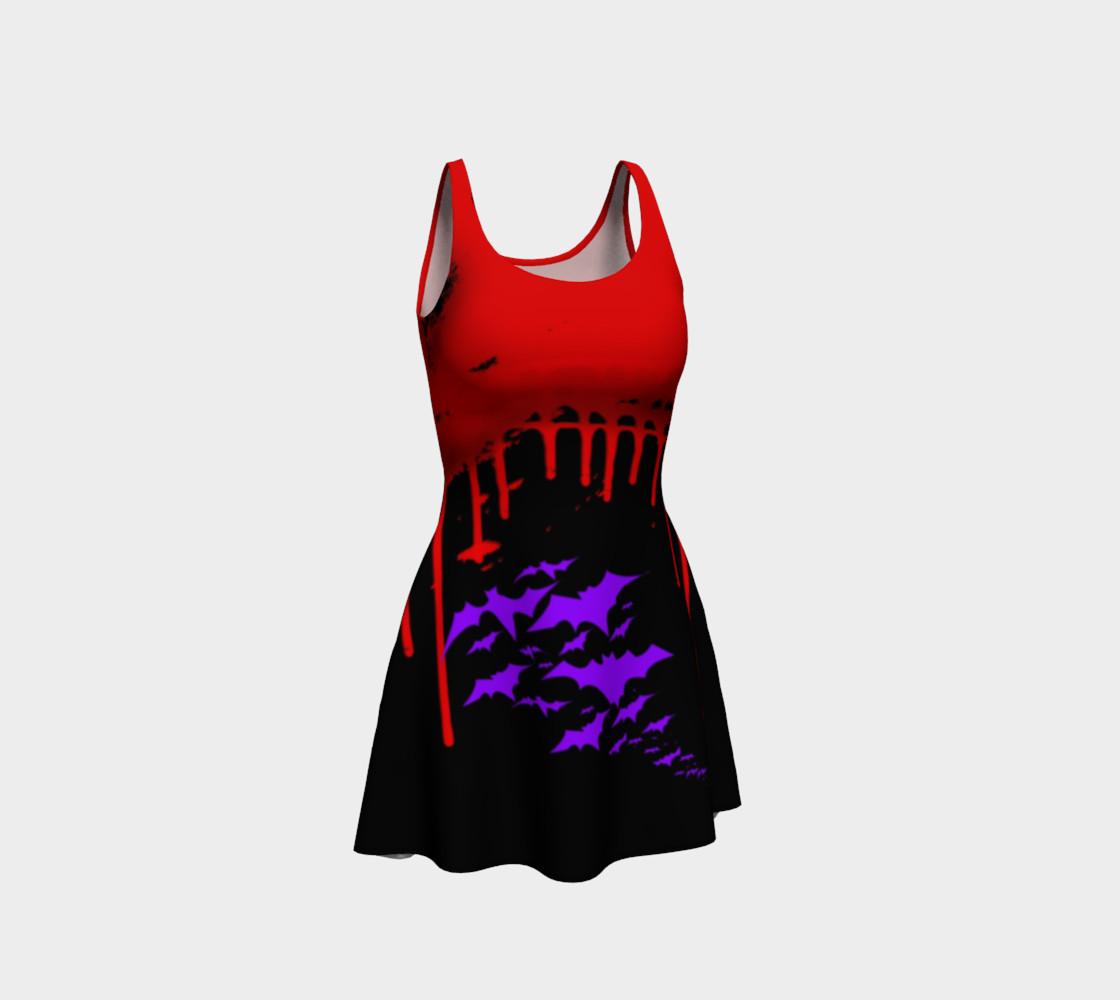 Vampire Bats Goth print dress by Tabz Jones preview #1