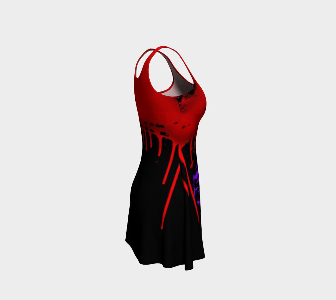 Vampire Bats Goth print dress by Tabz Jones preview #4
