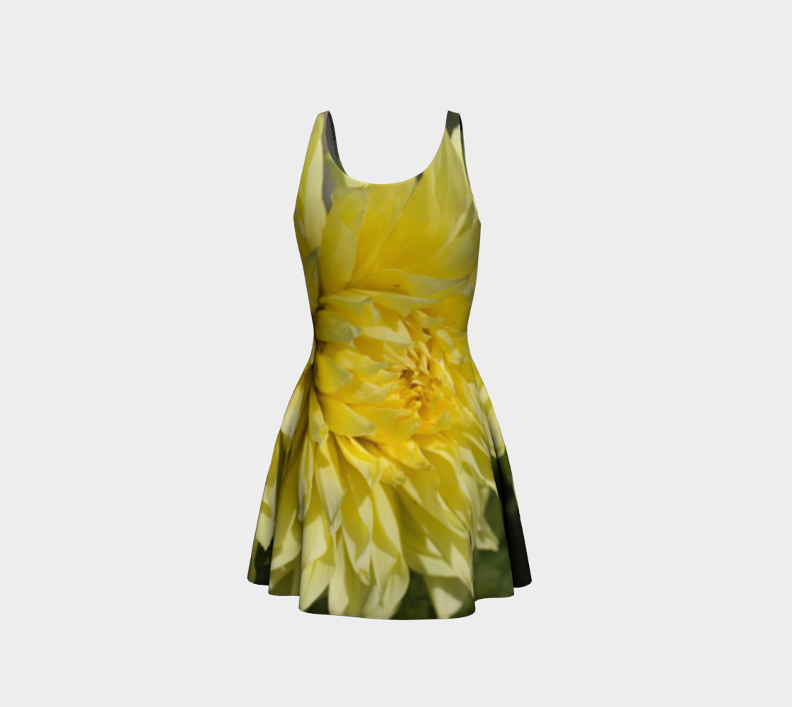 Yellow Dahlia Flare Dress preview #3
