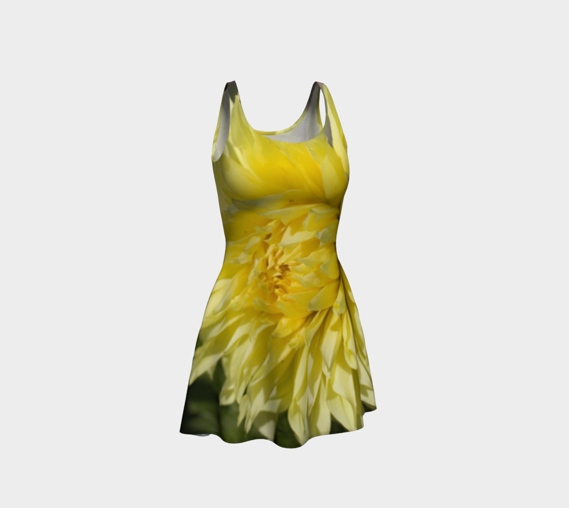 Yellow Dahlia Flare Dress preview #1