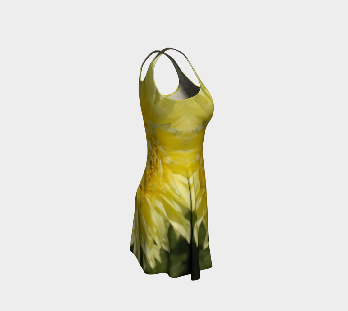 Yellow Dahlia Flare Dress preview #4