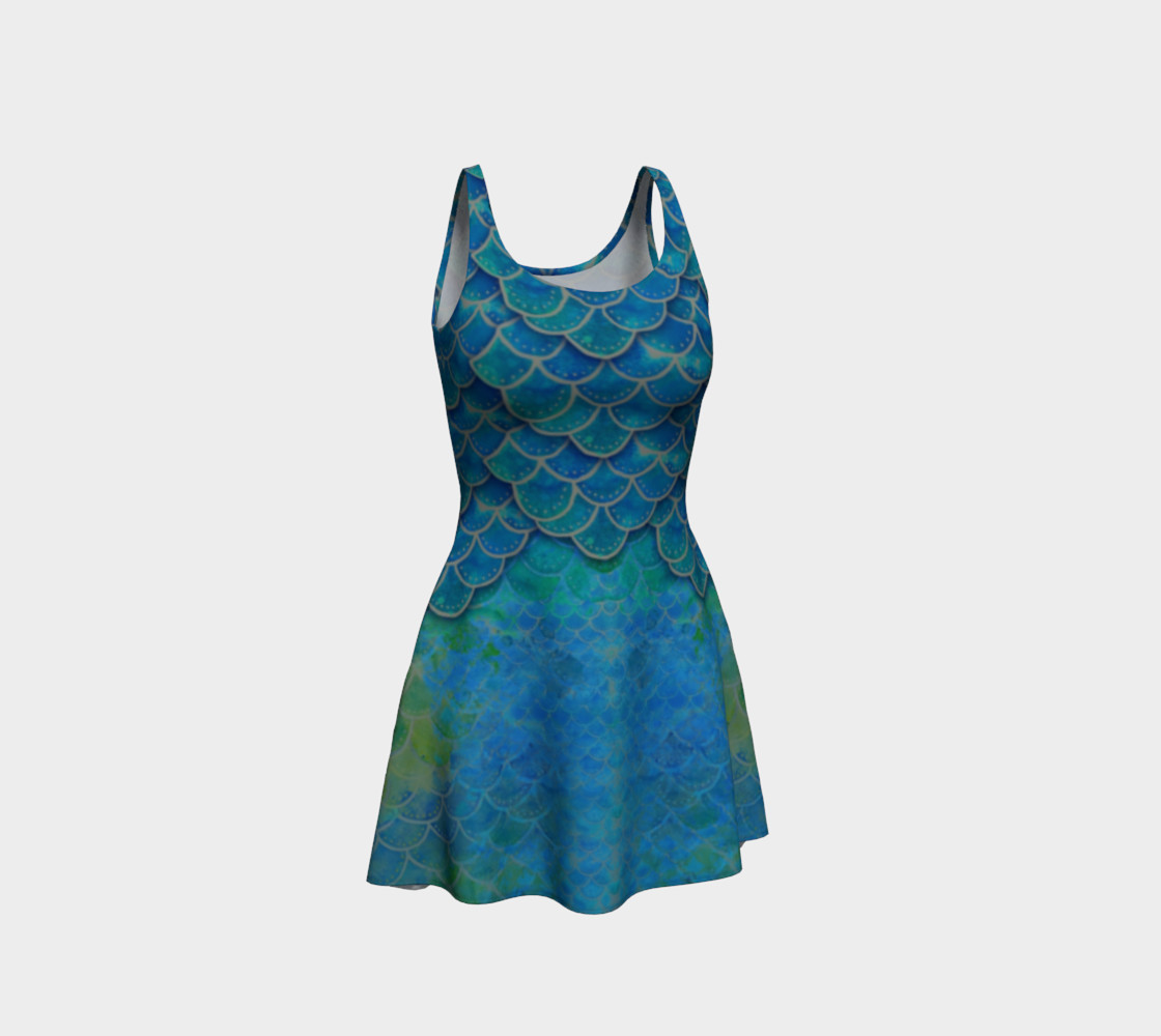 Mermaid Scale Flare Dress No. 1 preview #1