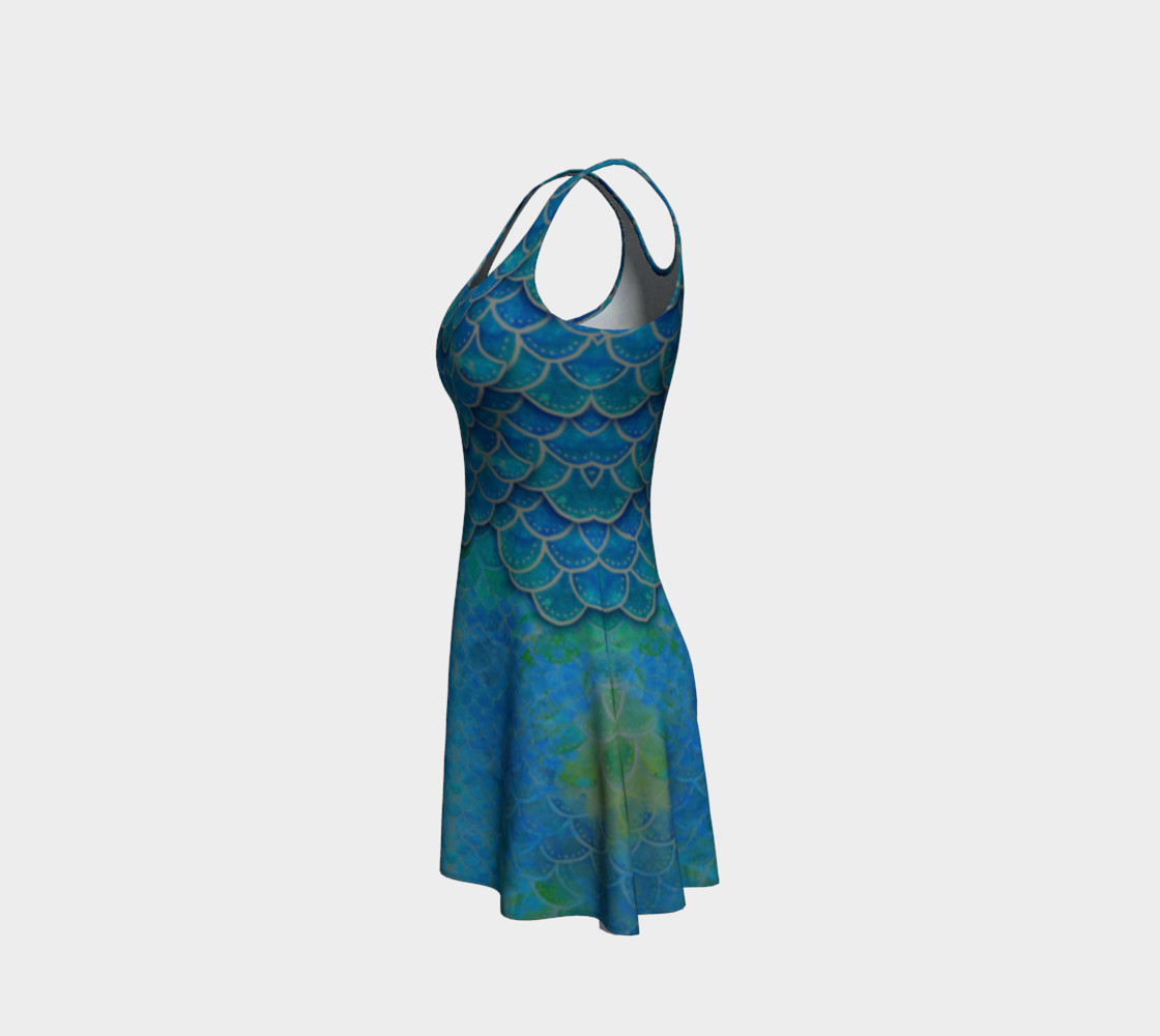 Mermaid Scale Flare Dress No. 1 preview #2
