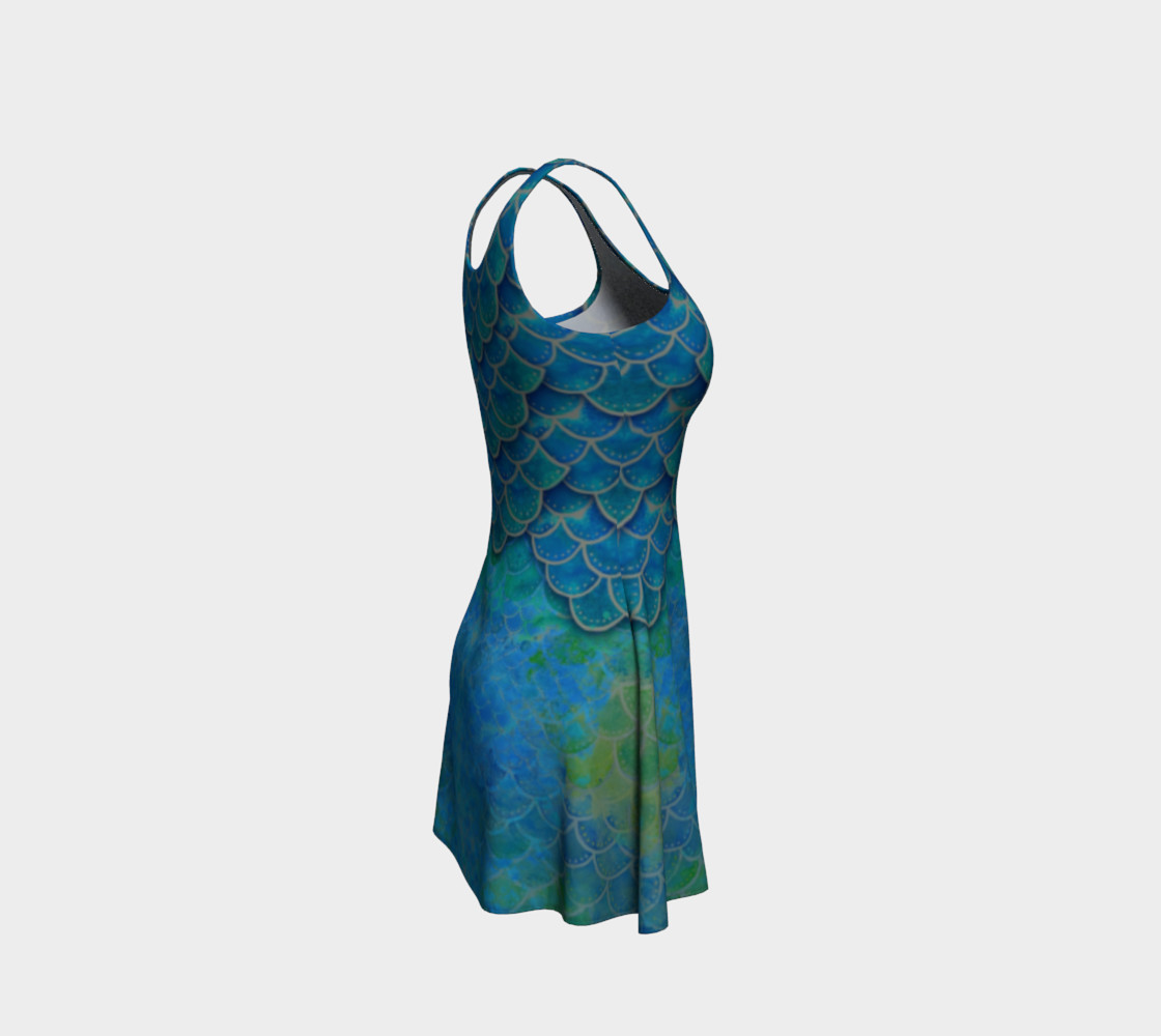 Mermaid Scale Flare Dress No. 1 preview #4