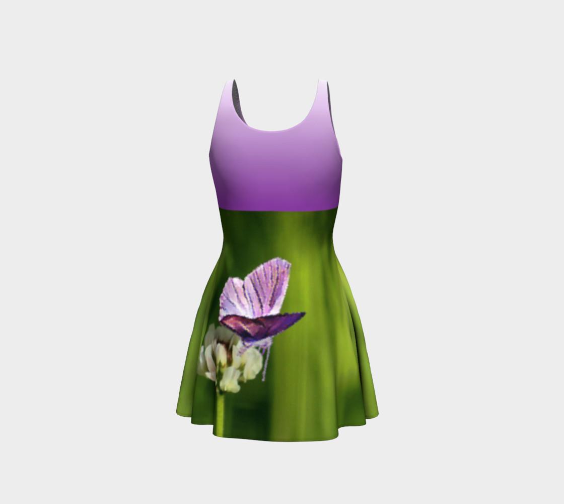 Aperçu de Butterfly on a Flower Dress - Purple #3