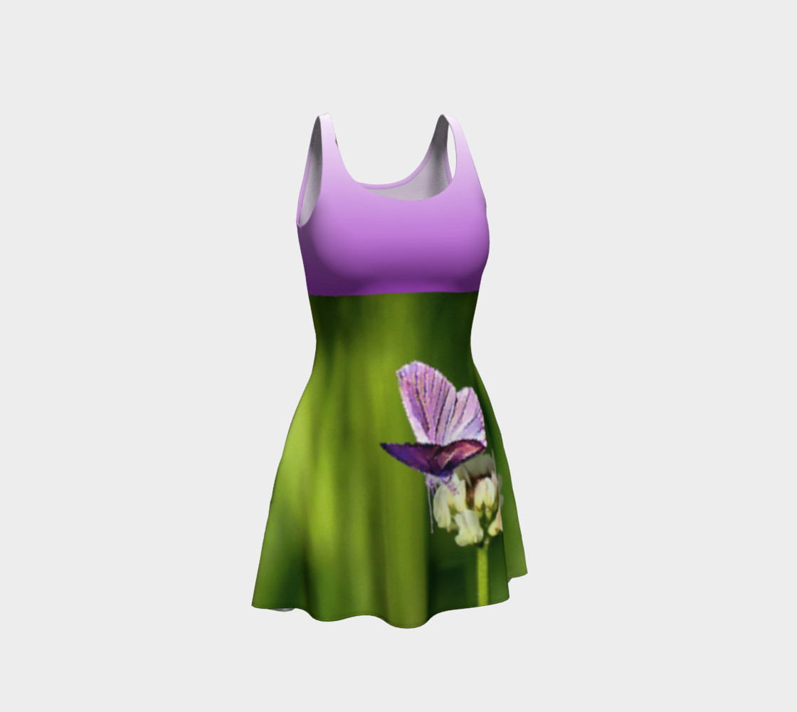 Aperçu de Butterfly on a Flower Dress - Purple #1