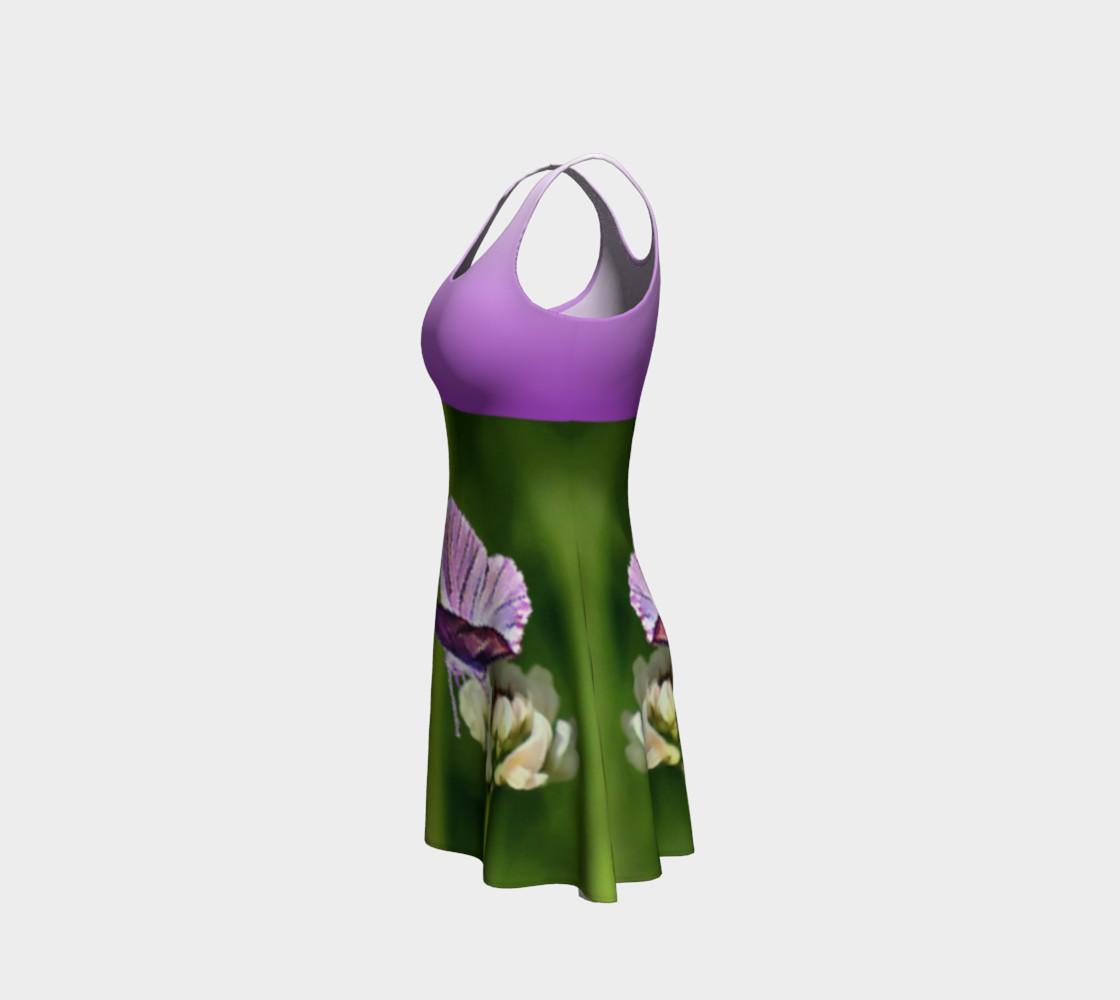 Aperçu de Butterfly on a Flower Dress - Purple #2