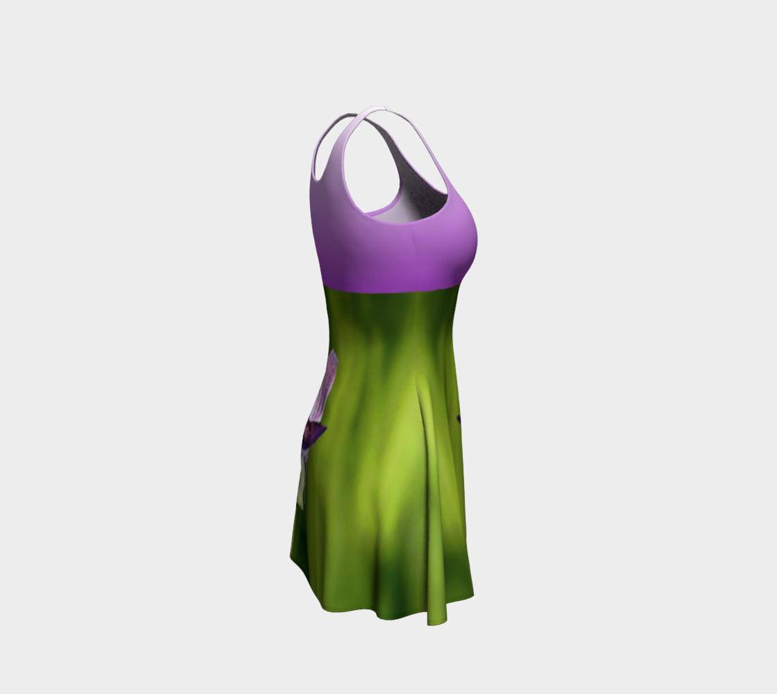 Aperçu de Butterfly on a Flower Dress - Purple #4
