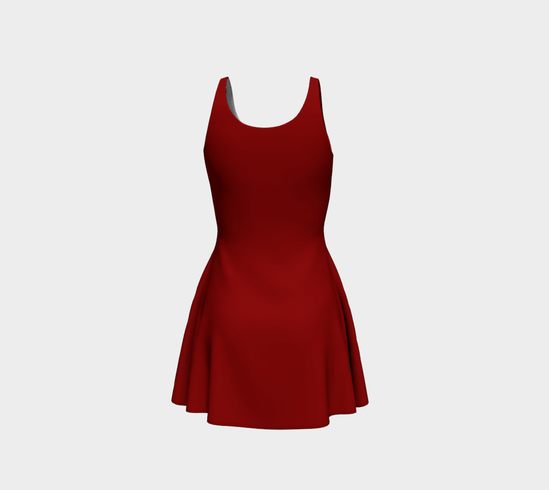 Red Leaves Dress Canada Souvenir Flared Dresses preview #3