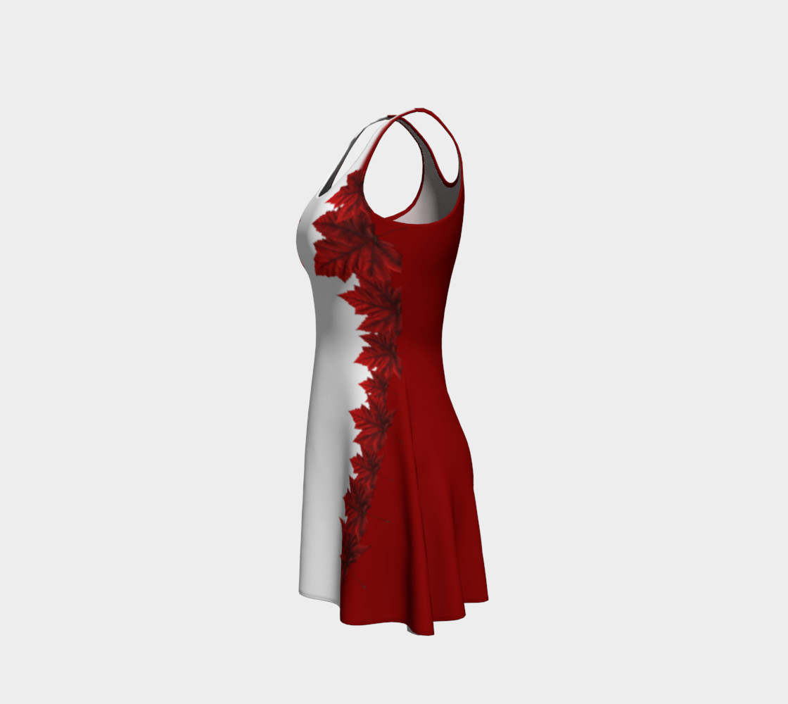 Red Leaves Dress Canada Souvenir Flared Dresses preview #2
