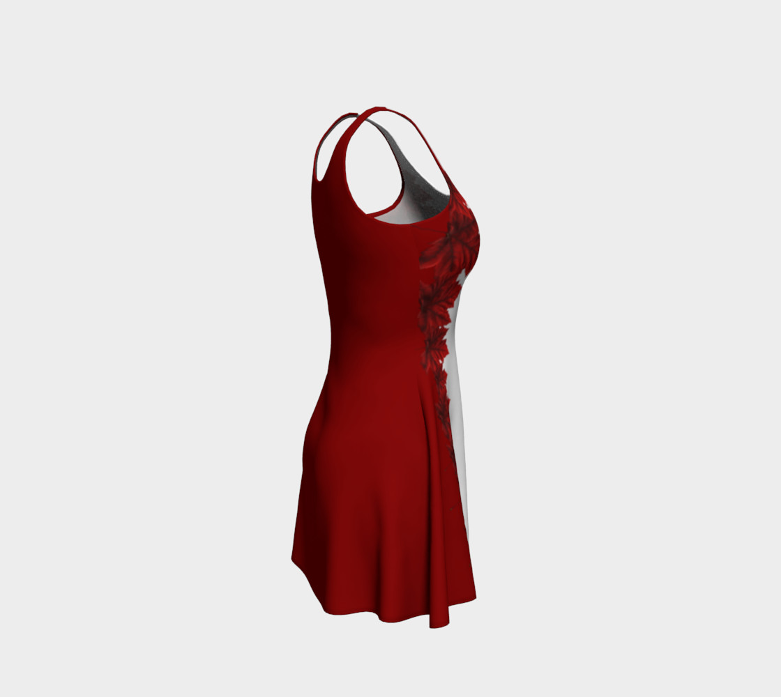 Red Leaves Dress Canada Souvenir Flared Dresses preview #4