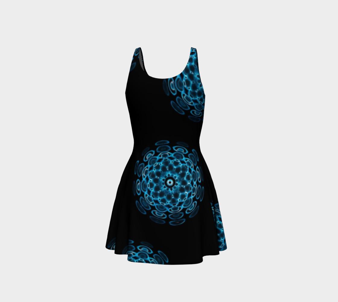 Blue Sound Flare Dress by Danita Lyn preview #3