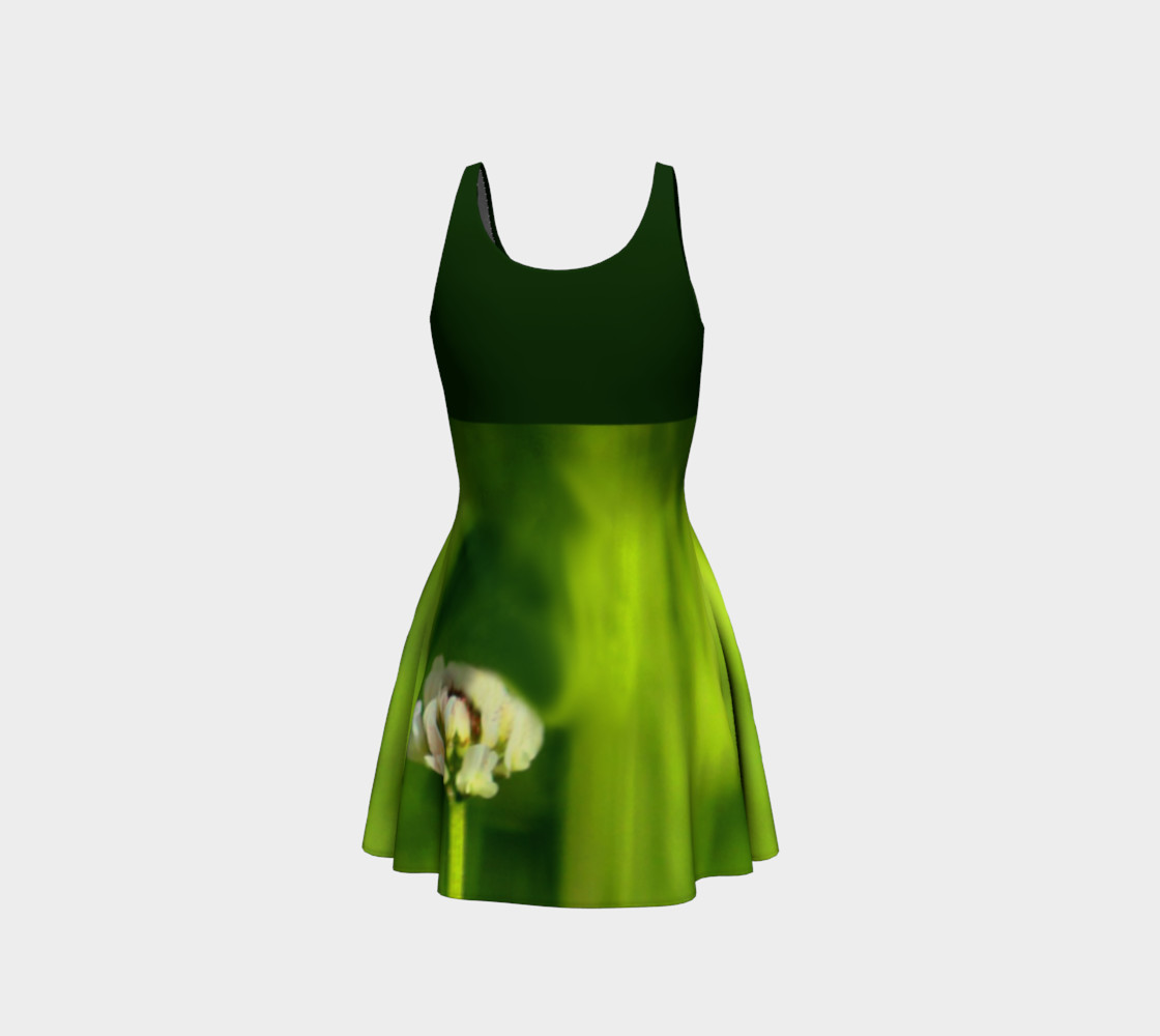 Butterfly on a Flower Dress - Green preview #3