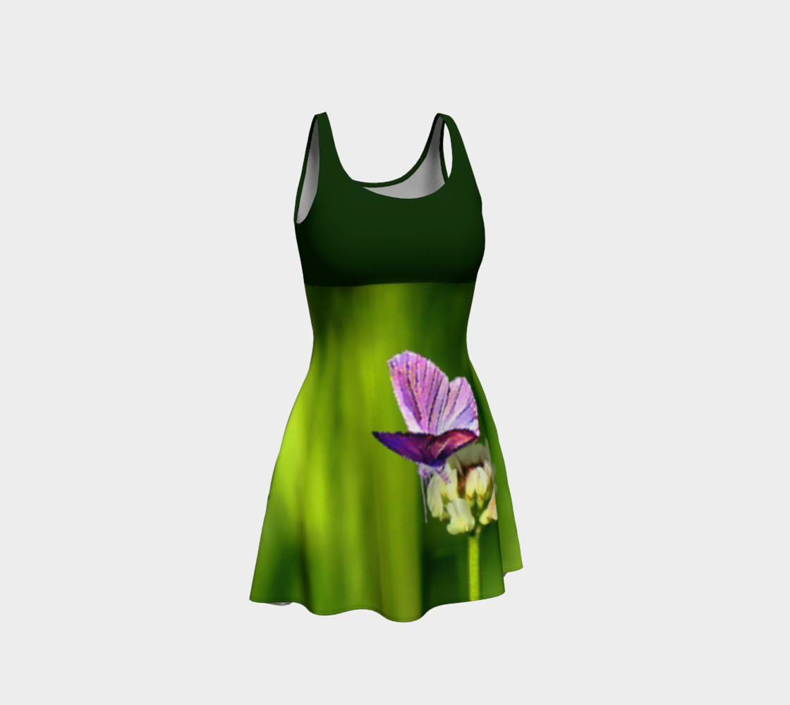 Butterfly on a Flower Dress - Green preview #1