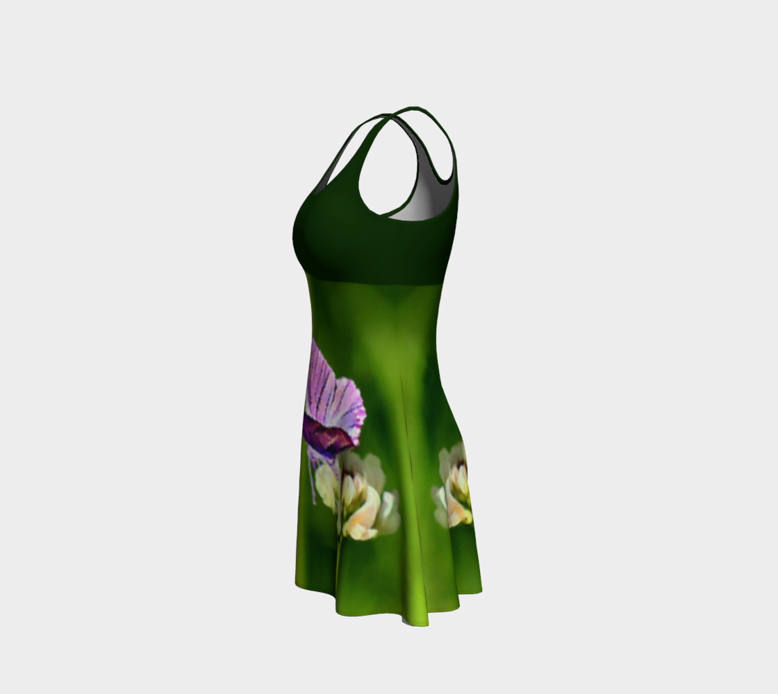 Butterfly on a Flower Dress - Green preview #2