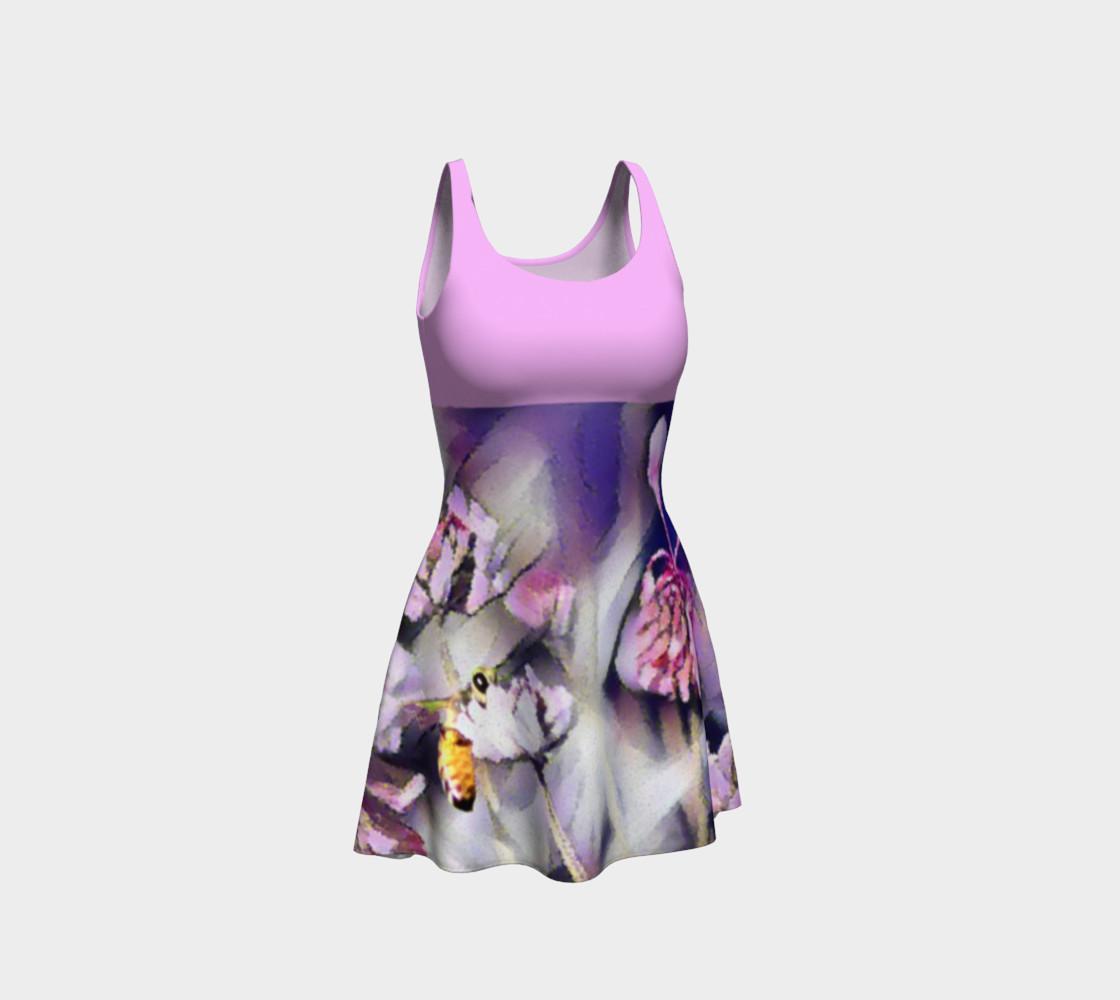 Aperçu de Bee Behind a Flower Dress - Pink #1