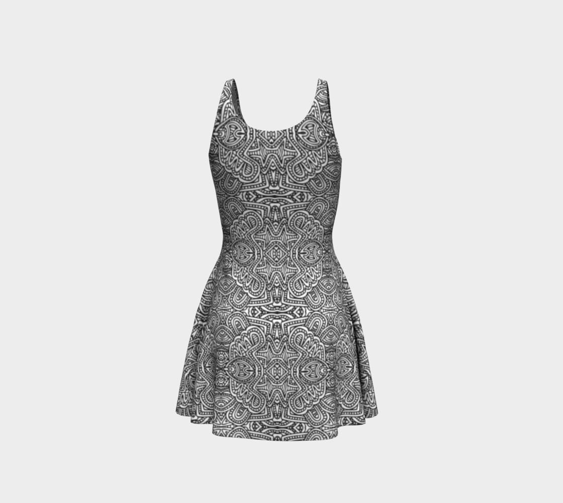 Aperçu de Zentangle monochrome pattern #3