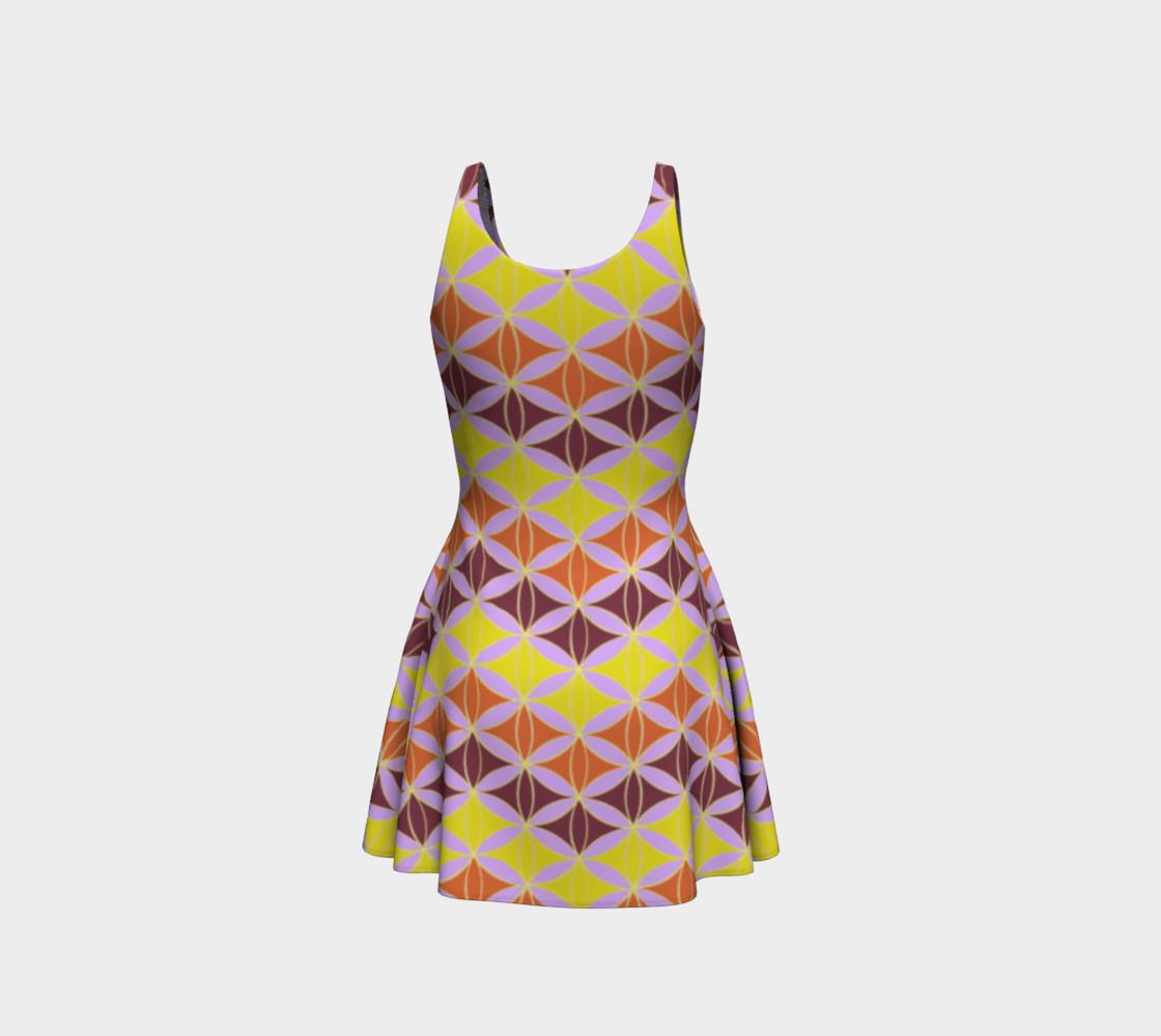 Rombus zigzag pattern - gold, orange, chocolate  preview #3
