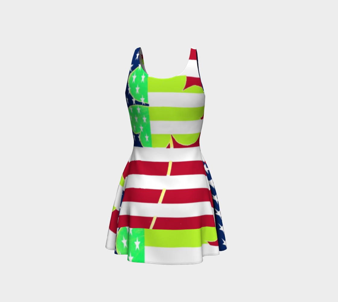 Aperçu de Funny St. Patrick Dress Irish Shamrock American Flag Colors #3