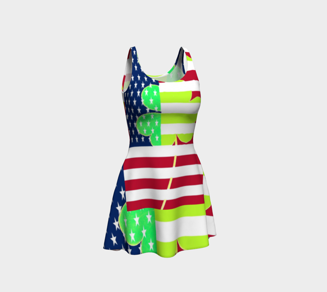 Aperçu de Funny St. Patrick Dress Irish Shamrock American Flag Colors #1