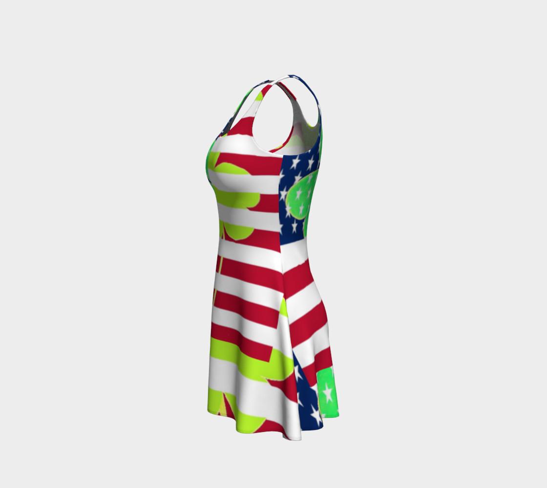 Aperçu de Funny St. Patrick Dress Irish Shamrock American Flag Colors #2
