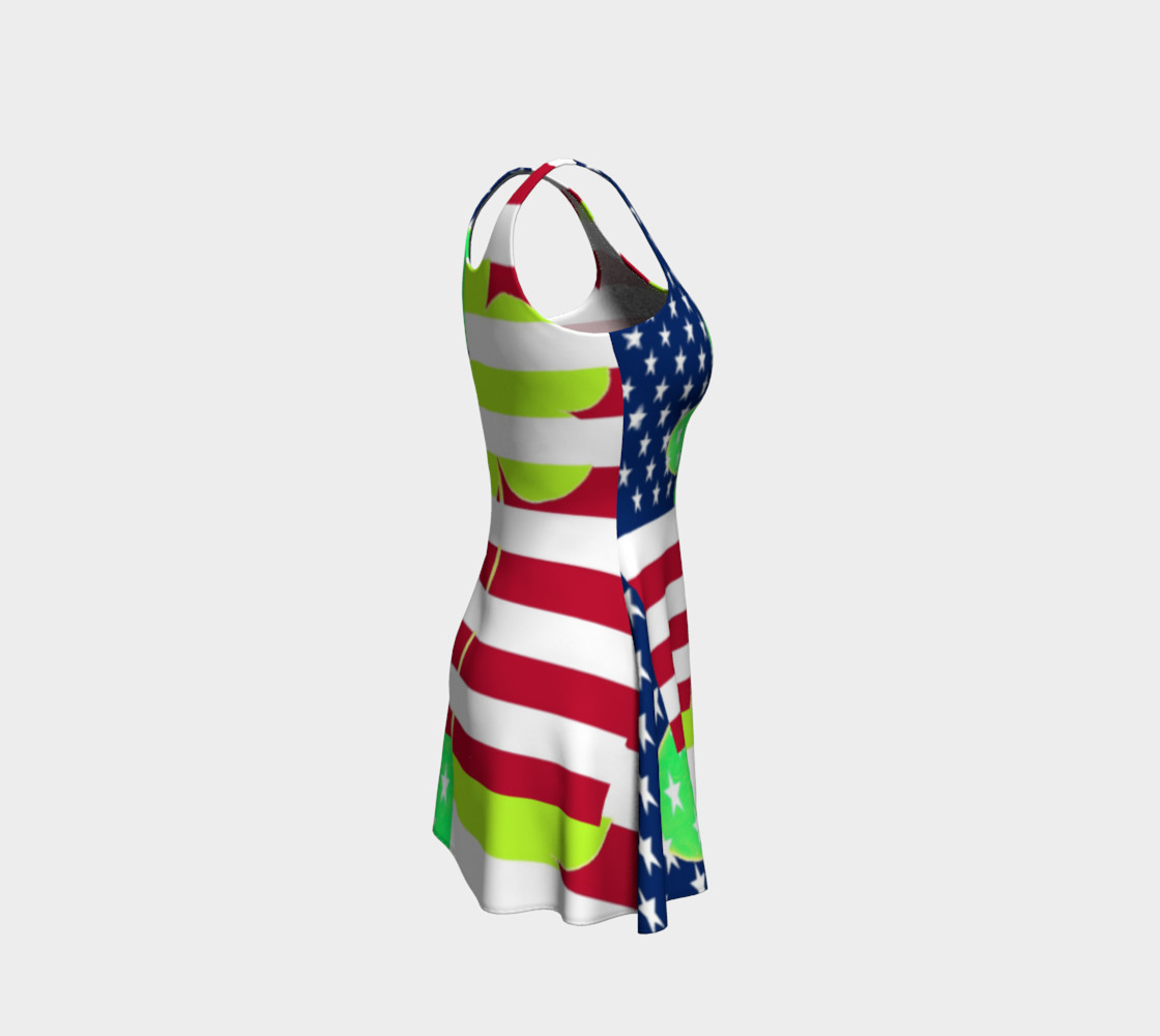 Aperçu de Funny St. Patrick Dress Irish Shamrock American Flag Colors #4