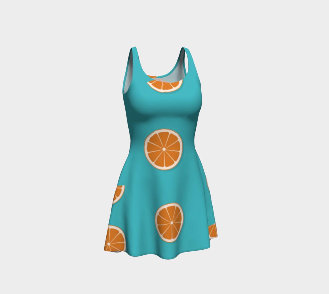 Aperçu de Orange on blue #1