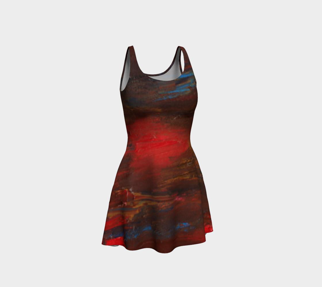 Crimson Ocean Flare Dress preview #1