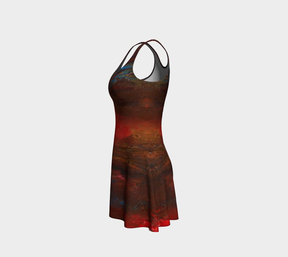 Crimson Ocean Flare Dress preview #2