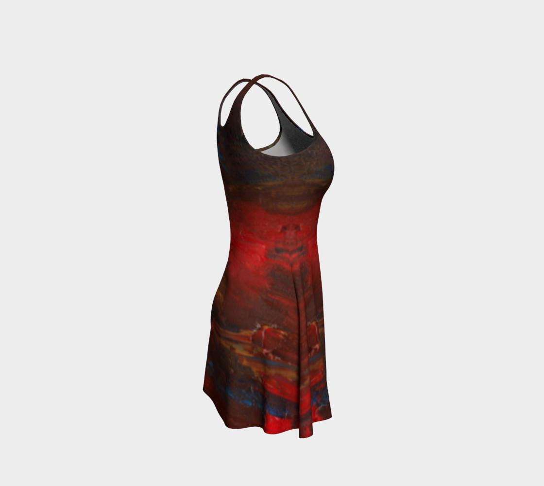 Crimson Ocean Flare Dress preview #4