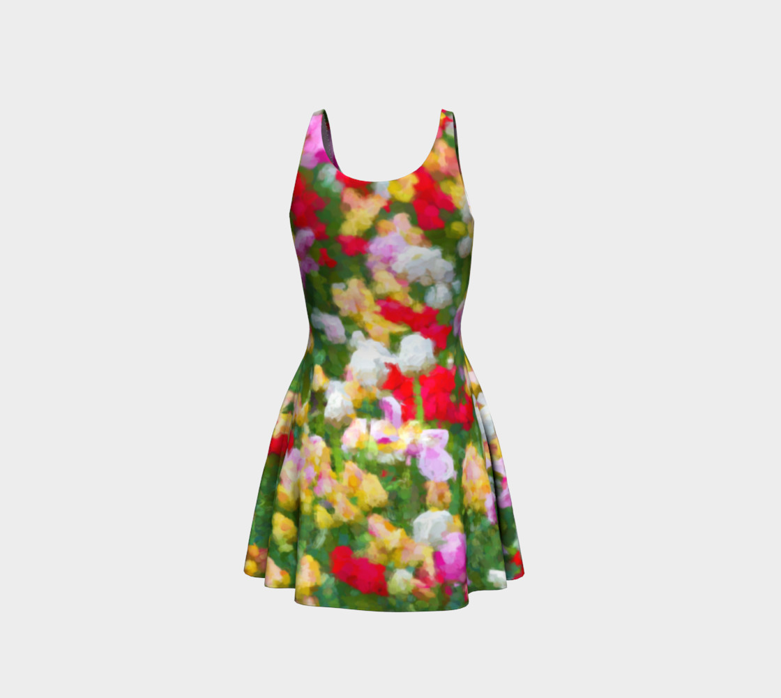 Painted Tulips Flare Dress preview #3
