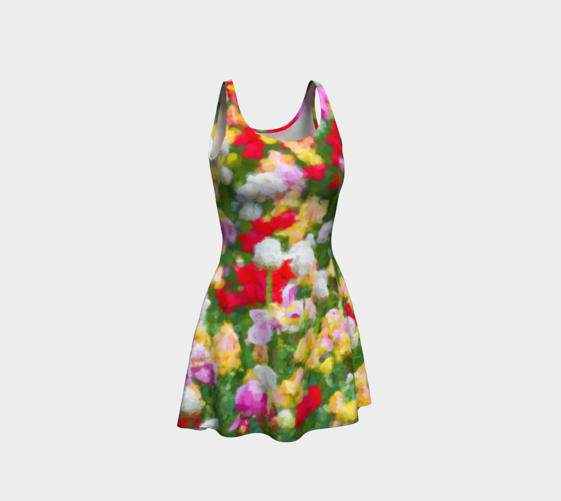 Painted Tulips Flare Dress preview #1