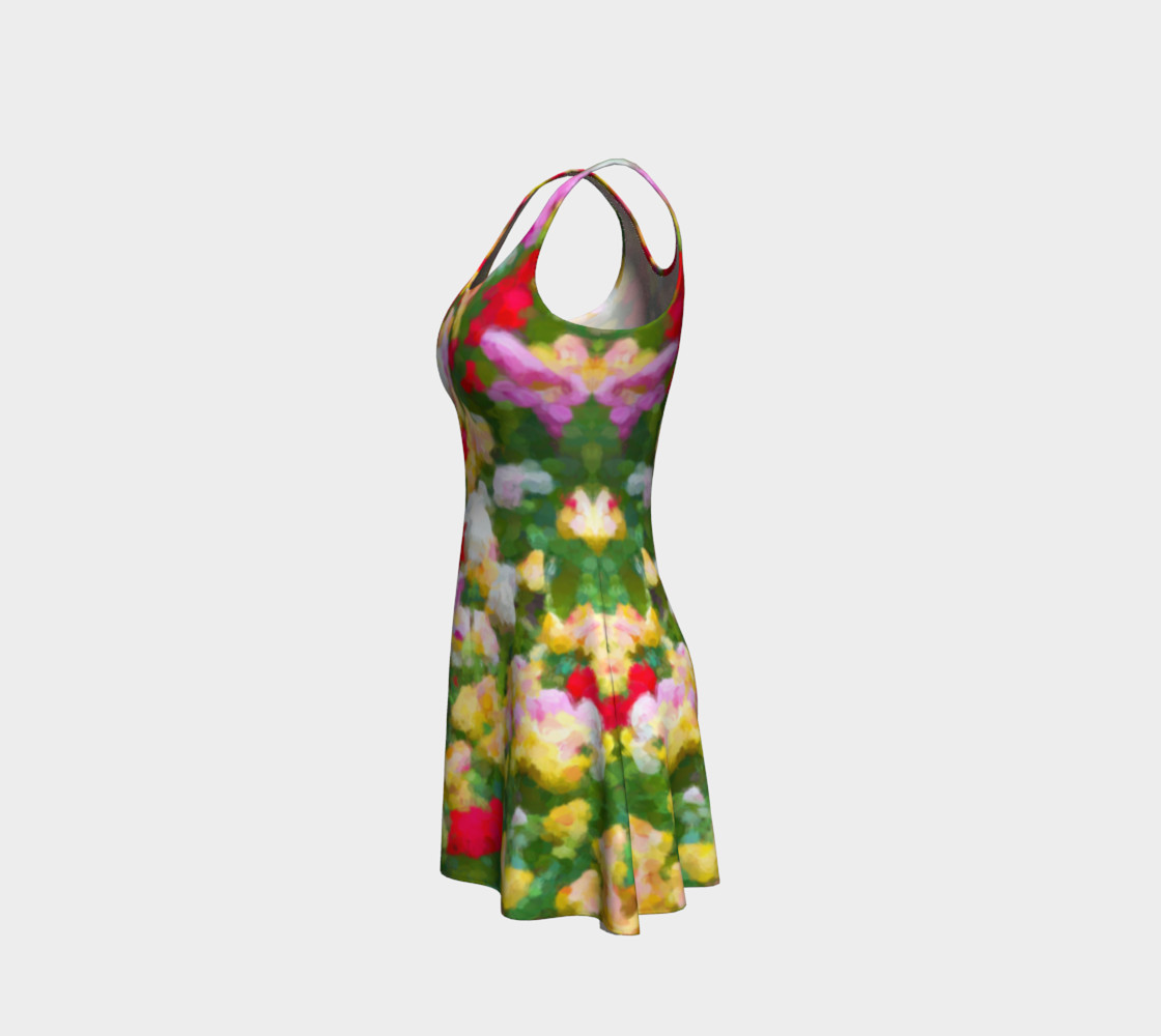 Painted Tulips Flare Dress preview #2
