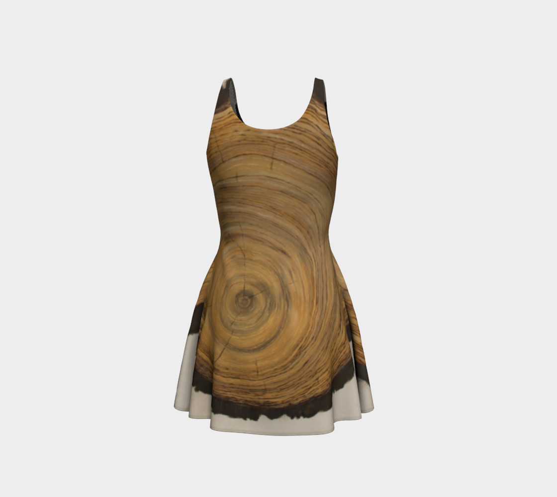 Woodcut - Painted - Flare Dress preview #3