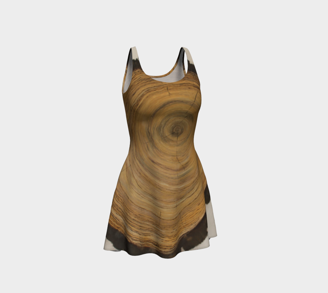 Woodcut - Painted - Flare Dress preview #1