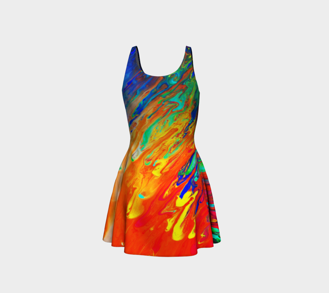 Abstract Flow Flare Dress by GearX Miniature #4